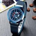 Мужские кварцевые часы  модные  оригинальные  водонепроницаемые  с магнитной сеткой  2019