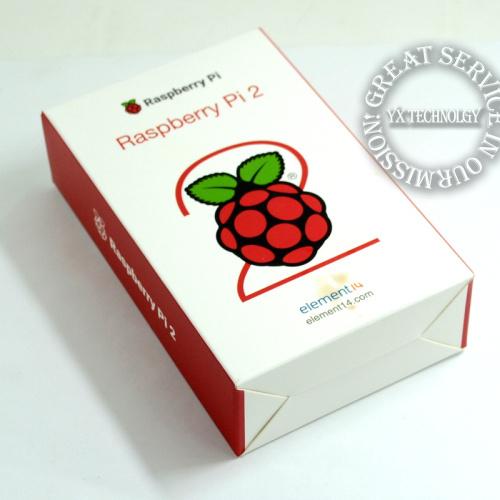 ELEMENT14 Original Raspberry Pi 2 Modelo B 1 GB de RAM 900 Mhz Quad núcleo ARM Cortex A7 6 vezes mais rápido do que RASPBERRY PI B