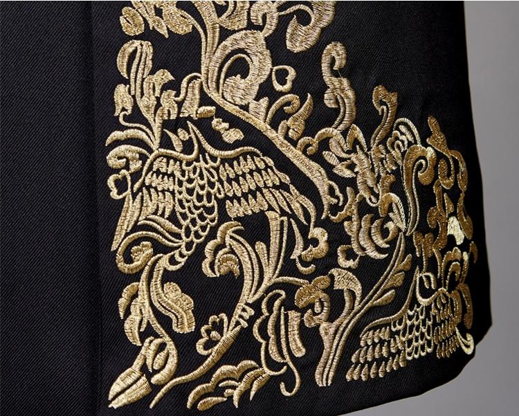 (Пиджак + жилет + брюки) свадебное платье жениха клетчатые официальные костюмы набор мужской модный бутик шерсть Повседневный деловой костю... - 6