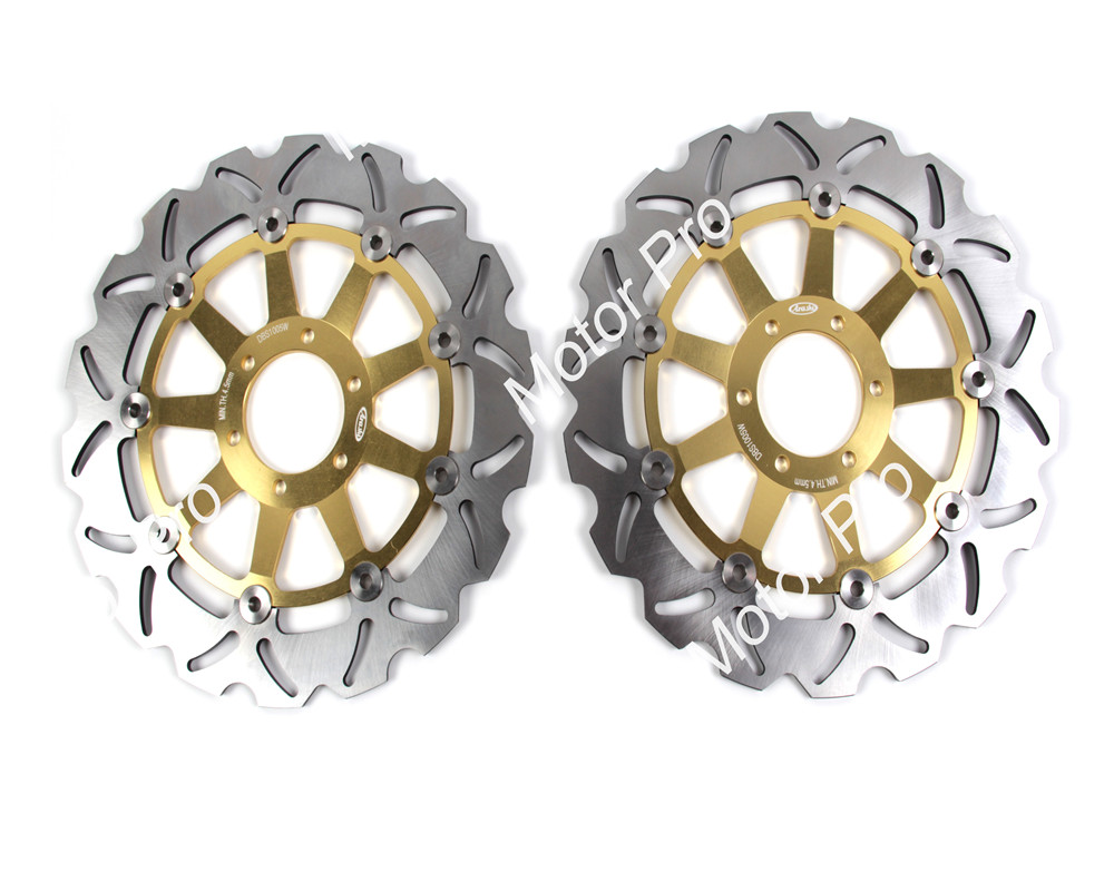 Front Brake Disc FOR YAMAHA FZS FAZER 600 1998 1999 2000 2001 2002 2003 FZ GENESIS 750 1989 1990-1992Motorcycle brake disk Rotor motorcycle front brake disc rotor for suzuki gsx 600 f 1989 1990 gsx 750 f katana 1998 1999 2000 2001 2002 2003 gold