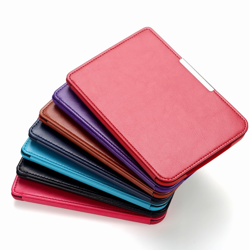 1pc PU Leather Cover Protective Case For Pocketbook Touch Lux 3 Ruby Red For Pocketbook 614 Plus 615/624/625/626 Ereader