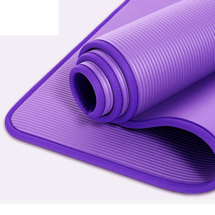 10mm NBR Non-Slip Yoga Mats Pad Home Gym Fitness Yoga Pilates Lose Weight Exercise Mat Tear-resistant Sports Mat Pads 1830*610mm jufit 1830 610 6mm tpe yoga mat double sided color exercise sports mats for fitness gym environmental tasteless pad