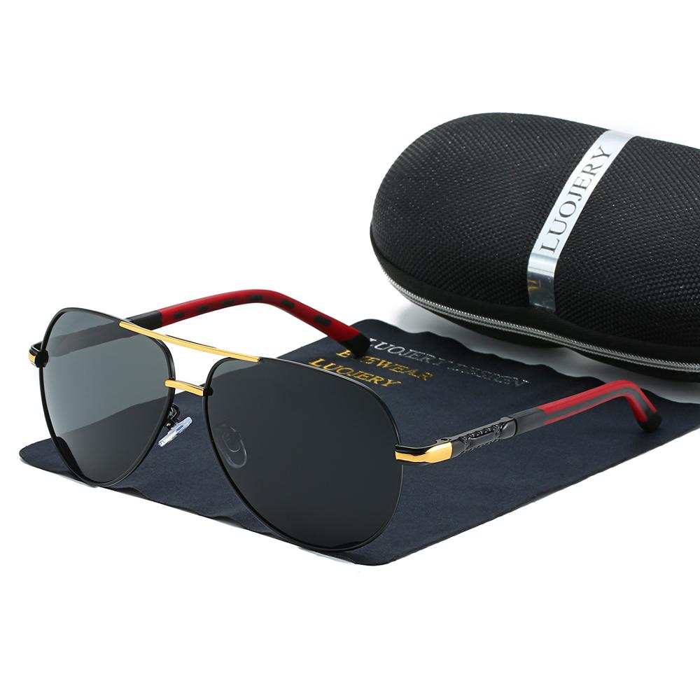 Luxury Brand Men Vintage Aluminum Polarized Sunglasses Classic Sun glasses Coating Lens Driving Shades For Men Oculos masculino in Men 39 s Sunglasses from Apparel Accessories