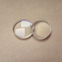 41.9 milímetros de Comprimento Focal 126 milímetros de Vidro Óptico Gibão Acromática Lente Objetiva Do Telescópio Astronômico Lente Convexa Dupla DIY 2PCS