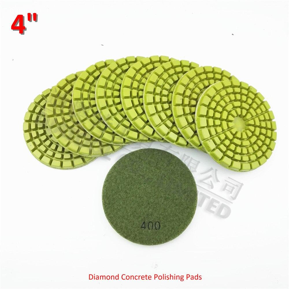 Diatool 9 Pcs 4 Inch Kental Berlian Ikatan Resin Polishing Beton Alat Potong Granite Ampamp Keramik 100cm 400 Dia 100 Cm Lantai Memperbaharui Bantalan Untuk Granit Marmer Di Pads Dari