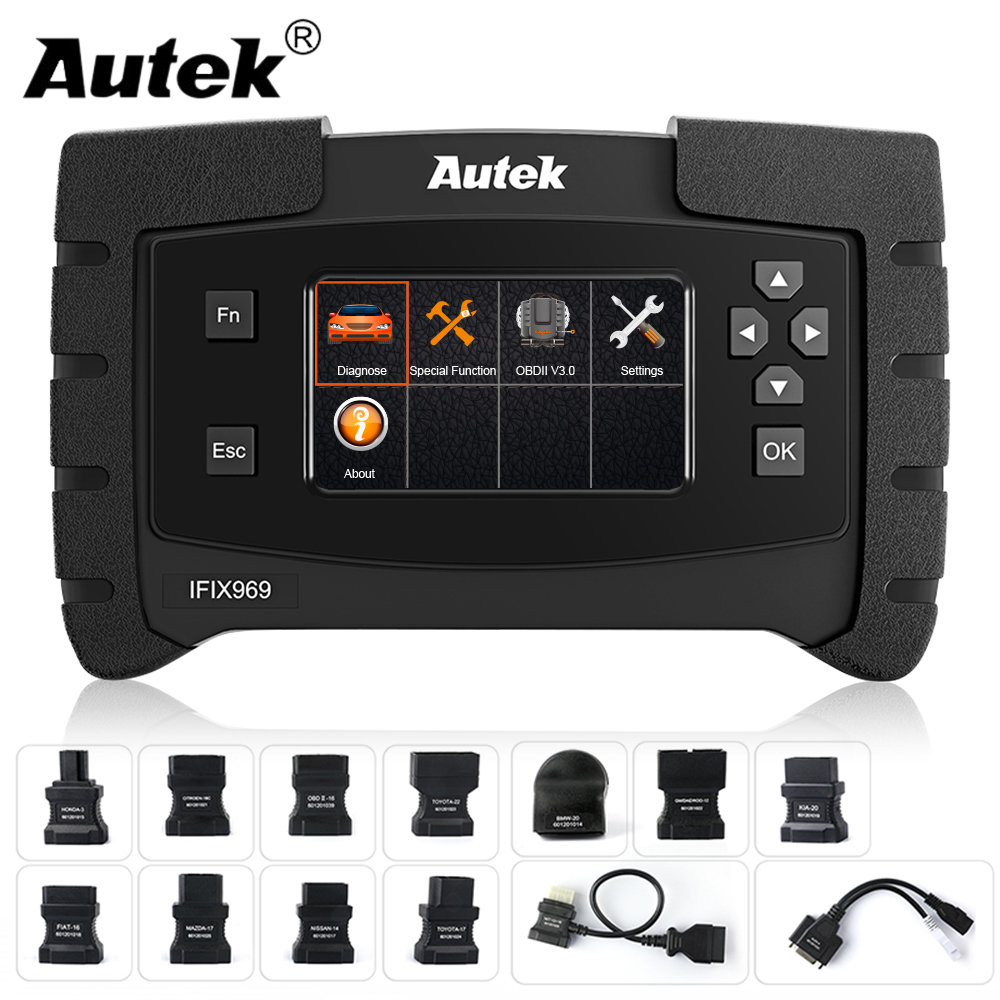Autek IFIX 969 OBD2 Automotive Scanner Full System Diagnostic Engine Airbag ABS SRS EPB SAS ESP TPMS OBD OBD 2 Car Scanner Tool-in Code Readers & Scan Tools from Automobiles & Motorcycles on