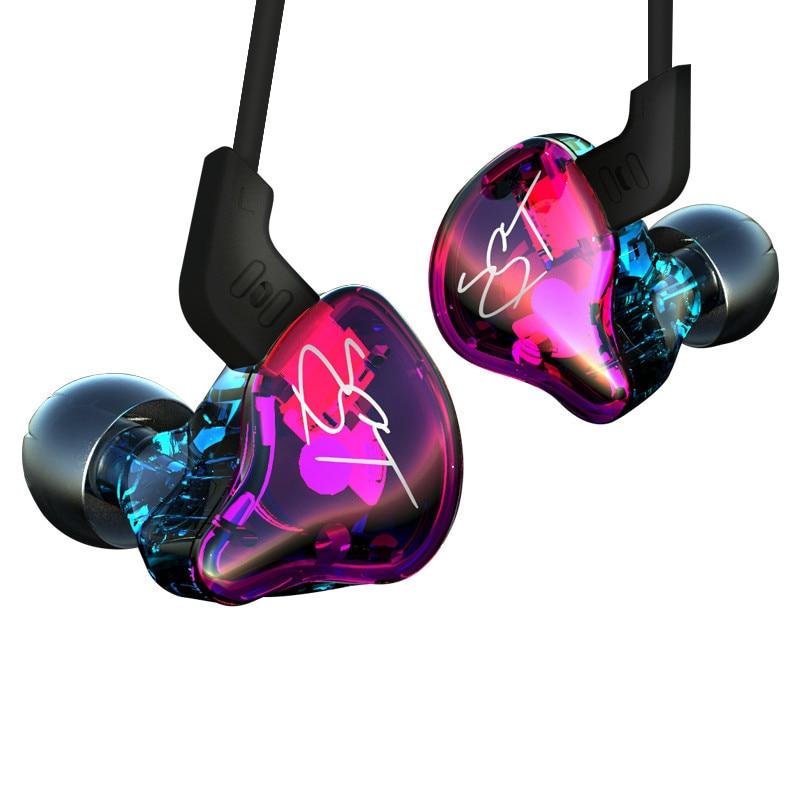 KZ ZST 1DD+1BA Hybrid In Ear Earphone Balanced Armature HIFI DJ Monito Running Sport Earphones Earplug Headset Earbud With Mic original urbanfun earphone 3 5mm in ear earbuds hybrid drive earphones with microphone hifi auriculares with monitor earplug