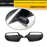 Carbon fiber replacement styling car side mirror covers trims for Audi A4 B9 2013 2015 & A5 2010 2015
