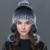 2016 gorros de inverno rex pele de coelho chapéu de pele de malha para mulheres chapéu com pele de raposa chapéu flor top tamanho livre das mulheres casuais