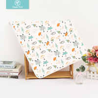 Happyflute Baby Nappy Diaper Changing Pads Washable Travel Nappy Mat Waterproof and Breathable Newborn Baby Floor Mat Play Mat