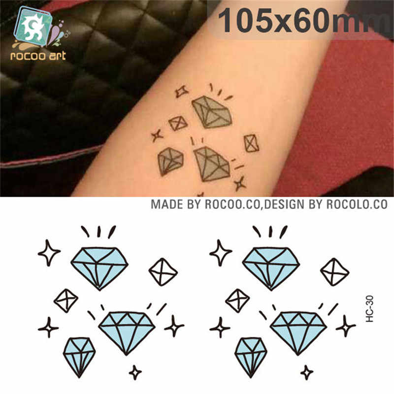 Body Art Sex Products waterproof temporary tattoos for men women beautiful fashion 3d diamond design flash tattoo sticker HC1030
