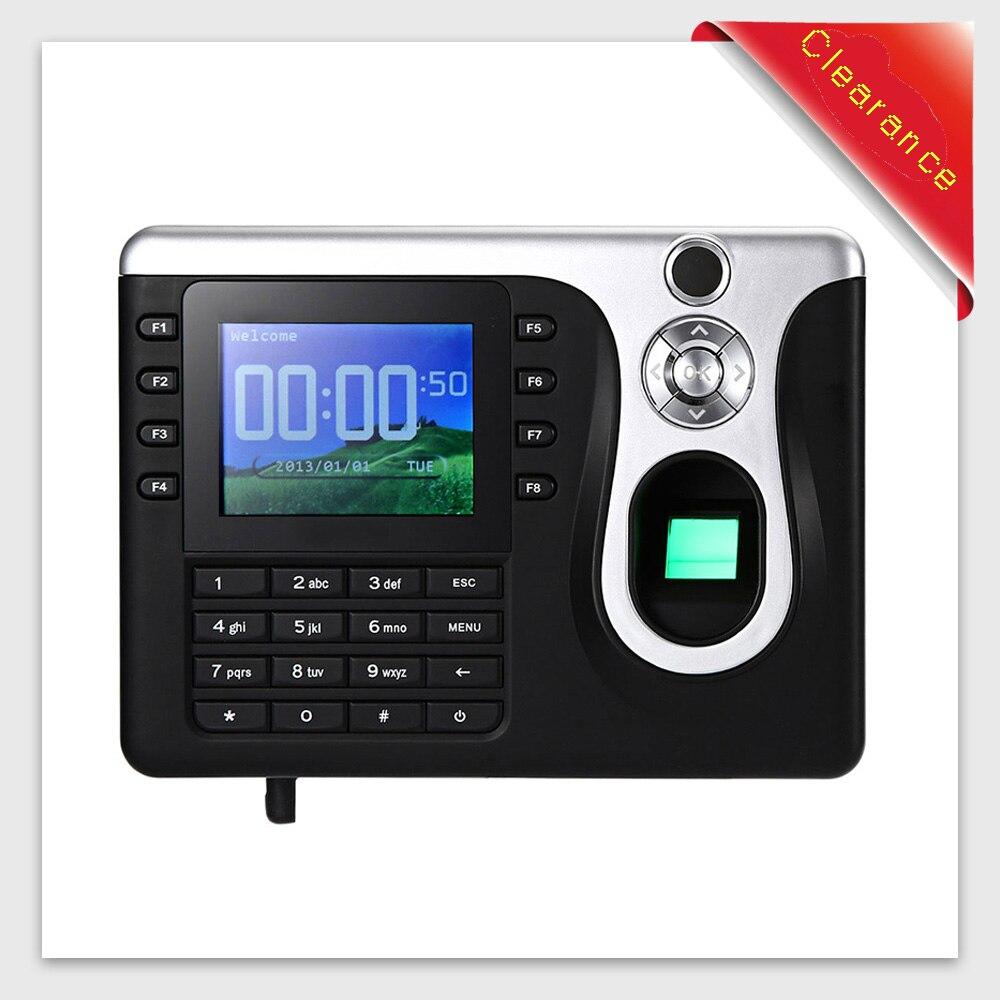 Здесь продается  Clearance Fingerprint Time Clock Recorder Attendance Fingerprint Recognition Device 2 Identification Support U Disk Download  Безопасность и защита