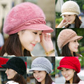 knitting wool fur thickening winter hat womens hats Cap Knitted Beret Baggy Beanie Hat Slouch Ski Caps