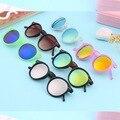 Mais novo Vintage Retro Unisex Espelho lente Óculos Redondos Steampunk Óculos De Sol Novo