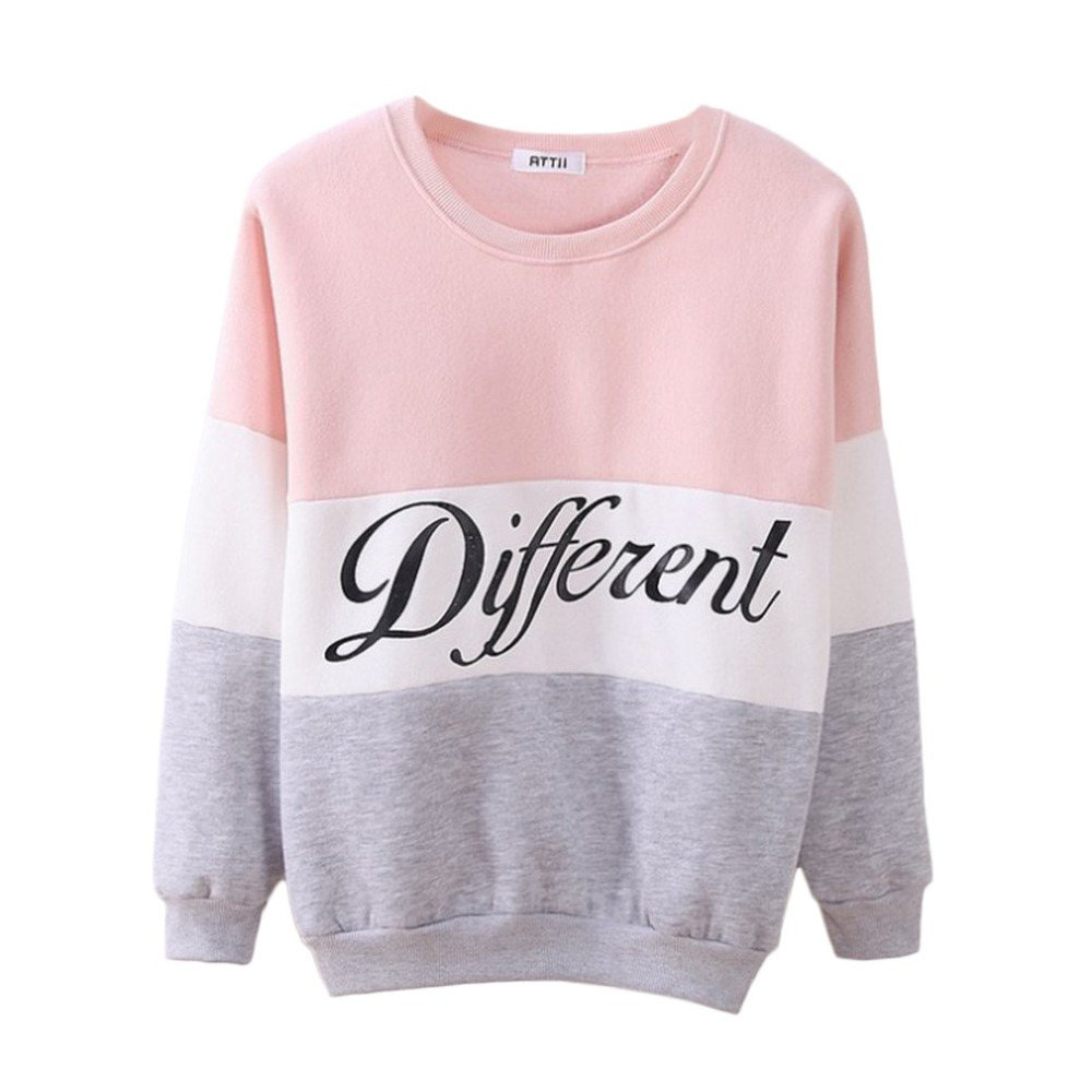 Women Sweatshirt Long Sleeve Hoodies Printed Pullovers Casual Full Cotton Letter Ladies Sweatshirt Tops O-neck For Female