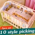 5 PCS Infantil Jogo Do Fundamento Do Bebê Do Bebê Do Algodão Conjunto Berço Cama Menino menina Crianças Conjuntos de Berço Do Bebê Cama de Bebê Crib Bumper Bumper 90x50 cm CP01S