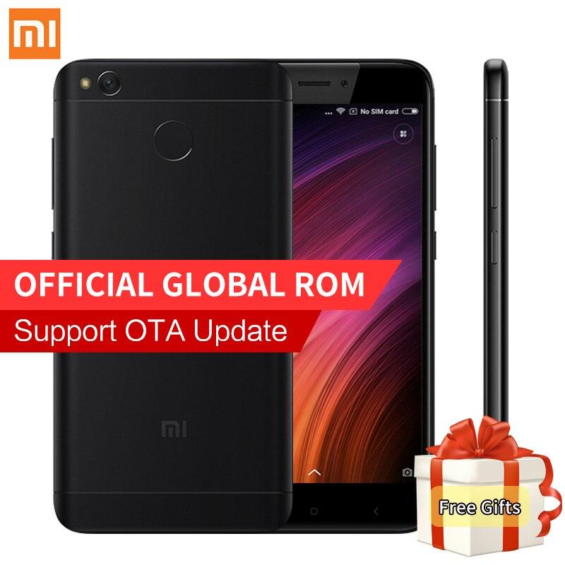 Original Xiaomi Redmi 4X Smartphone 2GB RAM 16GB ROM Snapdragon 435 Octa Core MIUI 8.2 Fingerprint 4G FDD LTE 13.0MP Redmi4X 4 X