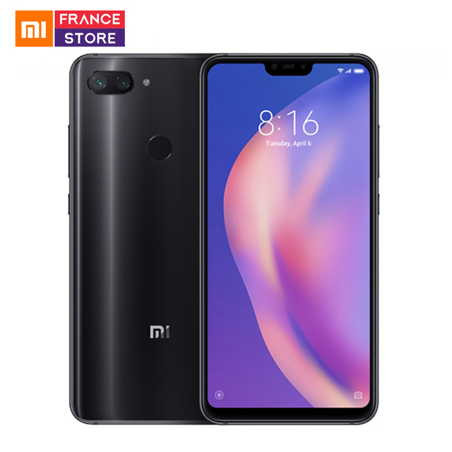 "Global Version Xiaomi Mi 8 Lite 4GB 64GB 6.26"" 19:9 Notch Full Screen Snapdragon 660 Octa Core 24MP Front Camera Mi8 Smartphone"
