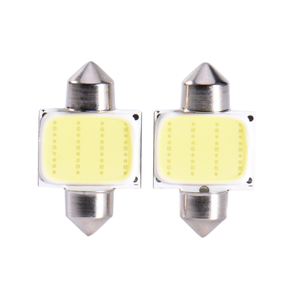 1pc 31MM COB Car Light LED Roof Light COB Double Pointed Lamps