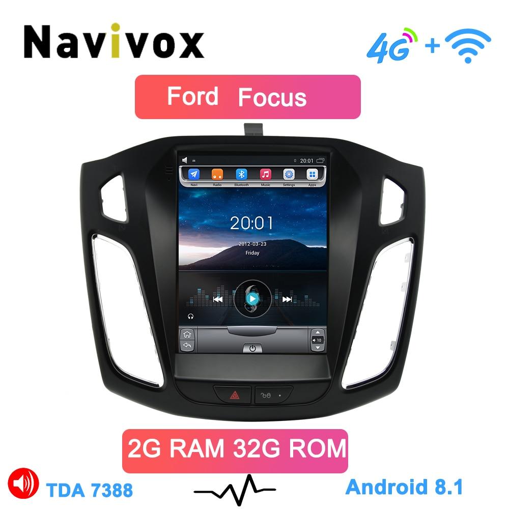 Navivox HD 10.4 pouces Android Octa Core android 8.1 voiture gps lecteur de radio vidéo multimédia pour ford focus salon 2012-2018 ans