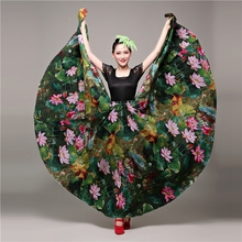 Flamenco Skirt for Women Choruses Opening Dances Swaggering Skirts Belly Half-skirts Spanish Dance Dropshipping