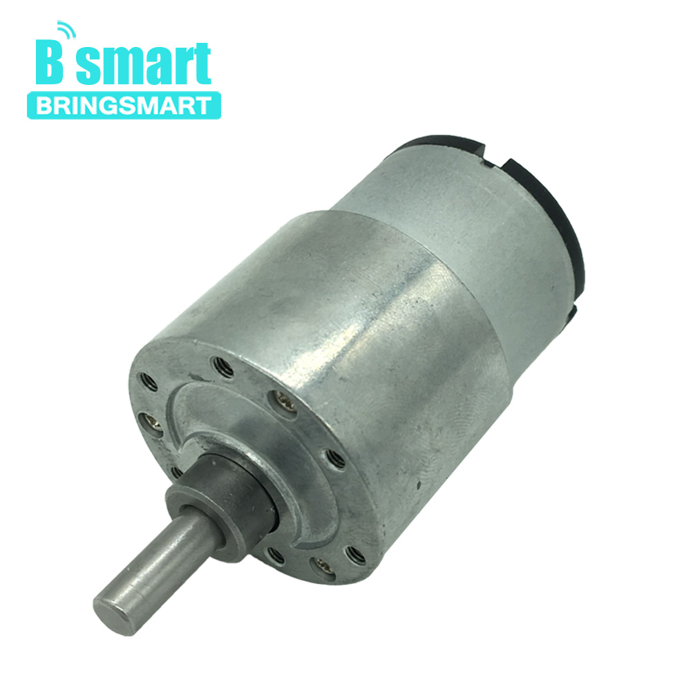 Bringsmart JGB37-520 Mini DC Gear Motor 12 volt High Torque DC Engine Reduction Electric Motor Reversed Modeling for DIY Toys все цены