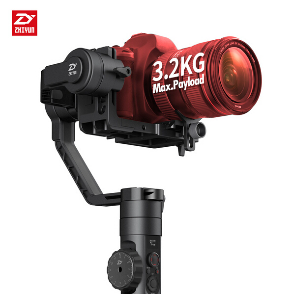Newest Zhiyun Crane 2 3-Axis Handheld Gimbal Video Camera Gyro Stabilizer for DSLR 3.2kg professional dv camera crane jib 3m 6m 19 ft square for video camera filming with 2 axis motorized head