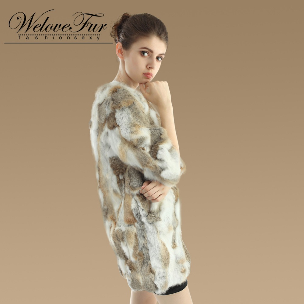 De Vêtement Femmes 2017 Brown Fourrure Lapin Dame Les natural Nouvelle Vestes Natural Chaud D'hiver Outwear Grey Réel Pour Manteau Naturel EEZpSqn