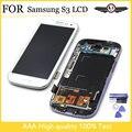 Tela de lcd para samsung s3 i9300 lcd moldura de exibição para samsung s3 i9300 exibição para samsung s3 i9300 lcd com logotipo