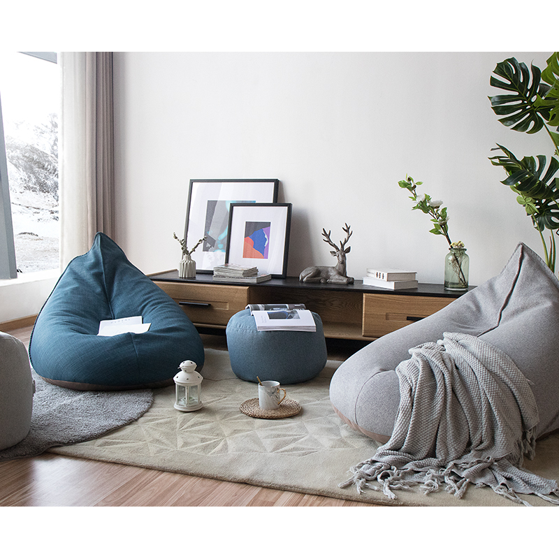 Trend Mark Modern Handmade European Style Lazy Bean Bag Sofa Childrens Chair Living Room Single Puff Sofa Tatami Home Decoration 2 Furniture