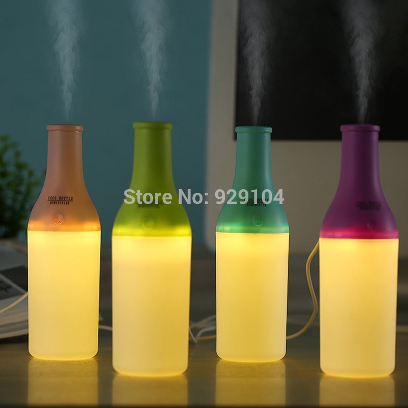 2017 New type Portable Mini USB Humidifier Bottle Office Air Diffuser Mist Maker LED Nightlight USB Humidifier