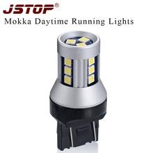 JSTOP Mokka led car Daytime Running Light Super bright 7443 Canbus bulbs 12VAC T20 daytime light