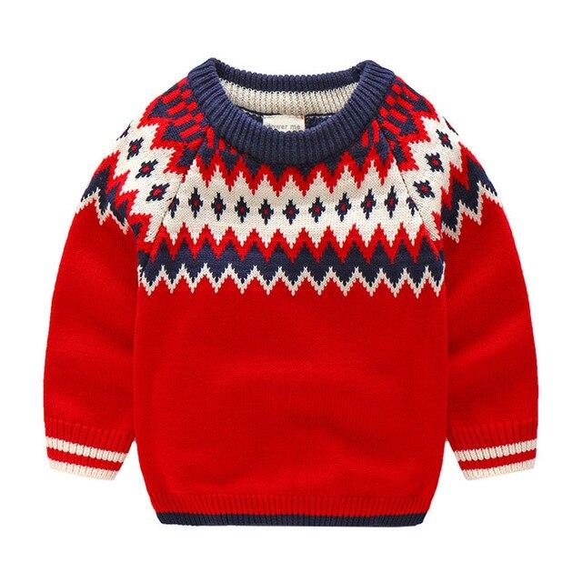Rode Trui.2 9 Jaar Leeftijd Kinderkleding Lente Herfst Mode Rode Trui Voor