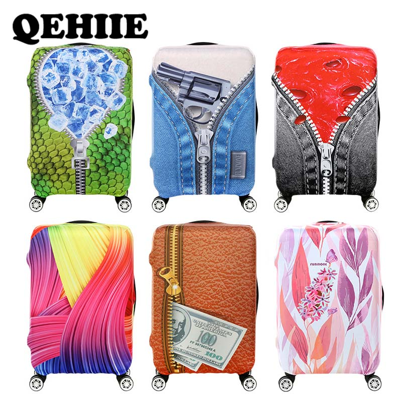 Fashion Luggage Cover Suitcase Protective Cover For 18-32inch, Elastic Trolley Case Dust Cover Travel Accessories Baggage Cover