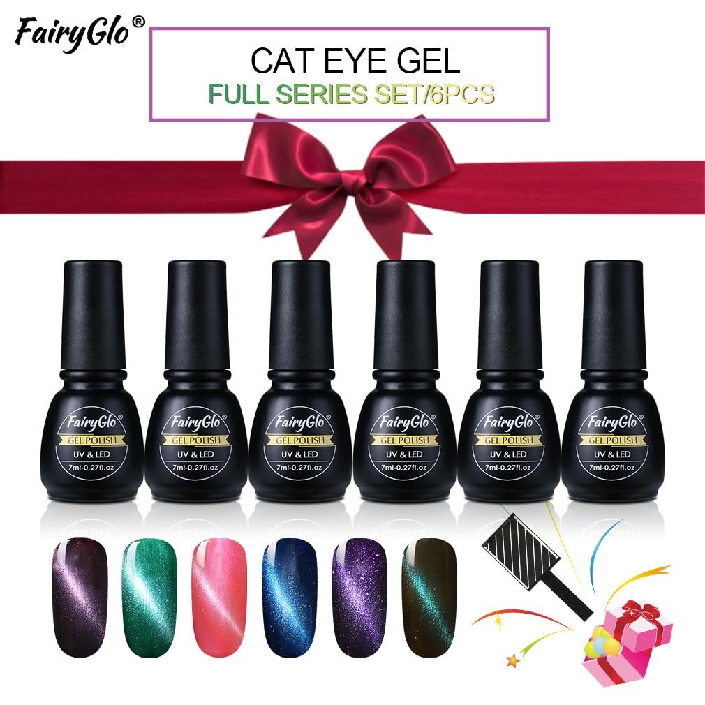 Hot Sale Fairyglo 6pcslot Nail Polish Set 7ml Cat Eye Uv Nail Gel