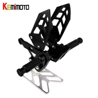 KEMiMOTO MT10 MT 10 Motorcycle Accessories CNC Adjustable Rear Set Rearset Footrest For Yamaha MT 10 FZ 10 2016 2017 repose pied