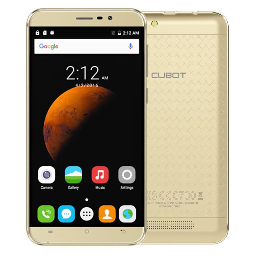 Original Cubot Dinosaur 5 5 Inch HD Screen MTK6735A Quad Core Smartphone 3GB RAM 16G ROM