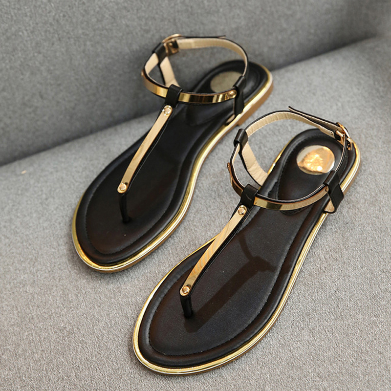 New 2018 summer women sandals high quality casual flip flops women flat sandals beach shoes women summer strappy gladiator low flat heel flip flops beach sandals shoes female shoes beach sandals casual shoes sandalias