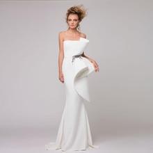 デ vestido フェスタロンゴ ハイエンドヨーロッパ流行ドレスシックなマーメイドイブニングドレスブランドデザインフリルシャーリングペプラムフォーマルドレス