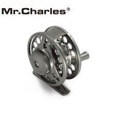 Mr Charles 70mm Carretel Grande Caramanchão Mosca + Reposição projeto Conjunto de e 3BB Pesca Com BAR-STOCK ALUMÍNIO