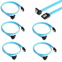 Nuevo 5 uds SATA 3,0 III 6 Gb/s 46cm Disco Duro unidad Cable recto 90 grados ángulo recto Cables HDD SSD datos Serial ATA línea de Cable