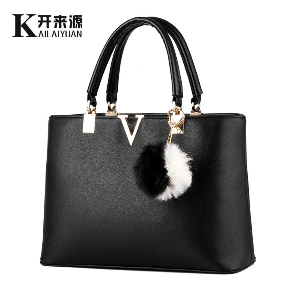 KLY 100% Véritable cuir Femmes sacs à main 2018 Nouveau sac femelle V mot doux dame de mode sac à main Messenger sac d'épaule sac