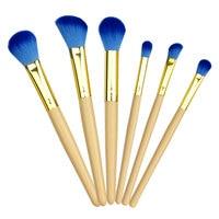 Blending Brush 6pcs Artificial Blue Hair Professional Brand Most Selling Kabuki Brush Set Most Affordable Price
