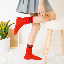 New Ladies Sexy Socks Cotton Knit Striped Female Tube sox Fashion Wild Solid Color Women 1 Pairs