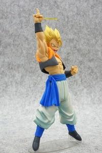 Image 5 - Anime Dragon Ball Z Gogeta Vegeta Son Goku Fusion Angel Aura Super Saiyan Chocolate Figuration Com Action Figure PVC DBZ Model