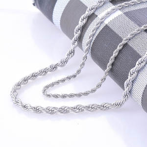 Necklace Statement Swag Twisted Stainless-Steel 2mm 4mm And