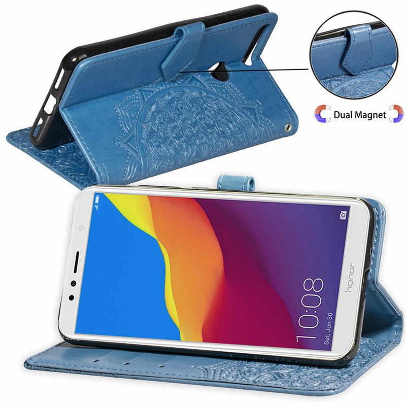 Funda para Huawei Honor 7A 7C Pro 6A 6X Honor 9 Lite P Funda de cuero inteligente para Huawei P20 p10 Mate 10 P8 P30 2017 Y5 2018 Caso transparente Caso de telefono huawei honor Caso de Shell Cubierta de silicona huawe