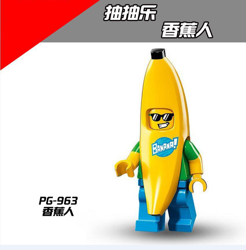 Single Legoing Fruit Animal Banana Rabbit Panda Penguin Carrot Building Block Legoing Toys Figures For Legoed Kids Gift