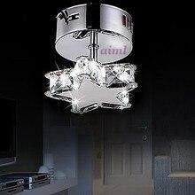 Высокое качество детская комната лампа звезды k9Crystal форма светодиодный Кристалл k9 потолочные лампы 1 светильник Простой Современный художественный 110-240 В
