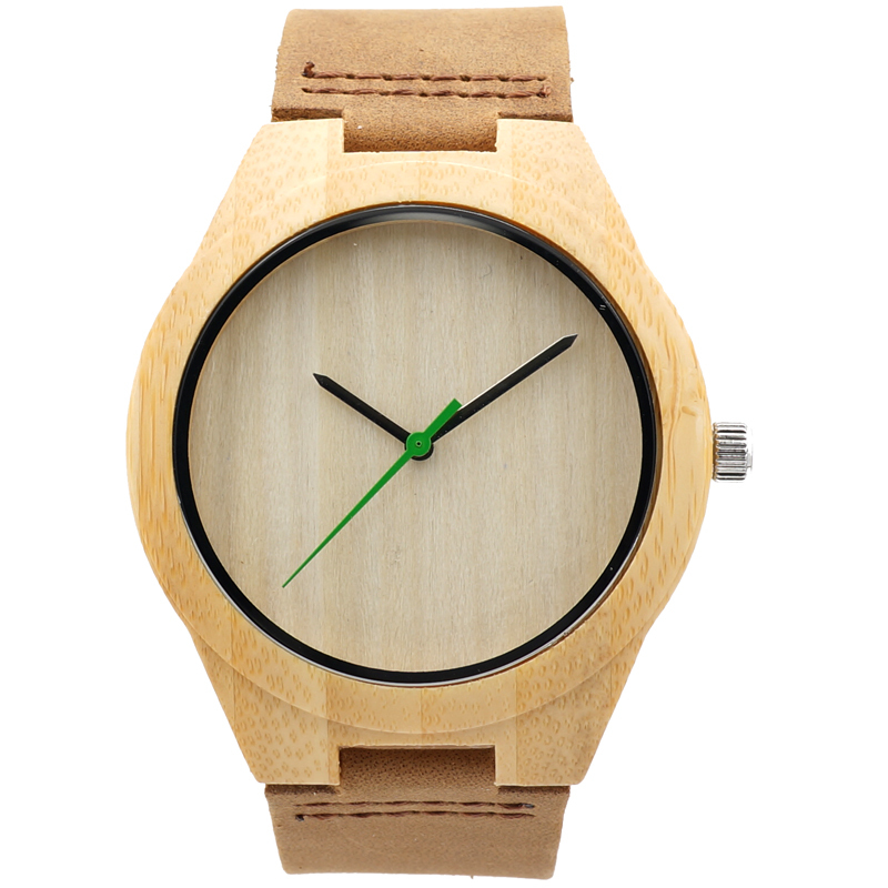 BOBO BIRD Hot Sale japanese miyota 2035 movement wristwatches genuine leather men bamboo wooden watches for